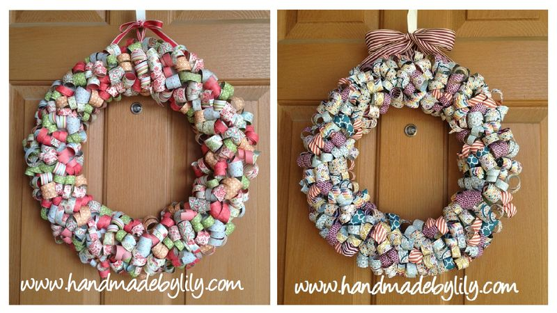 Curly paper wreath